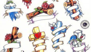 Tattoo designs 200. Cross tattoos.
