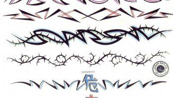 Tattoo designs 201. Arm band tattoos.