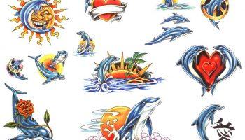 Tattoo designs 203. Dolphin tattoos.