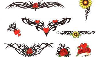 Tattoo designs 204. Girly flower tattoos.