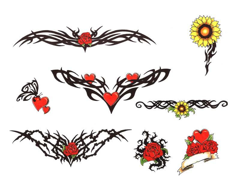 Girly flower tattoo designs