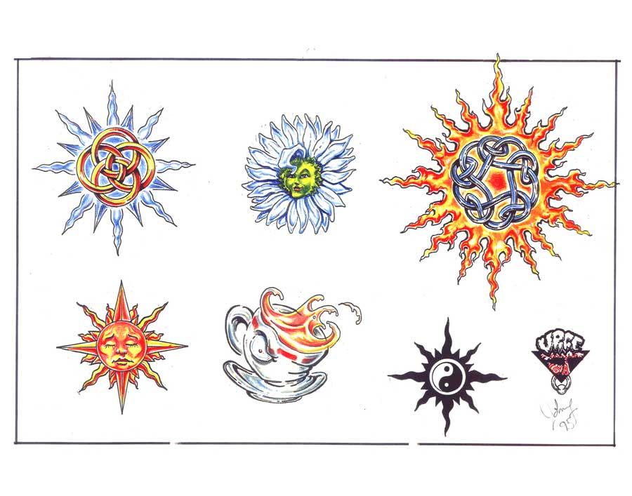 Tattoo flash. Sheet 256