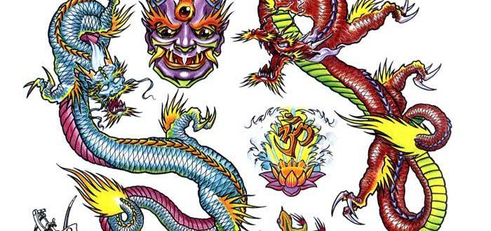 Tattoo flash. Sheet 262