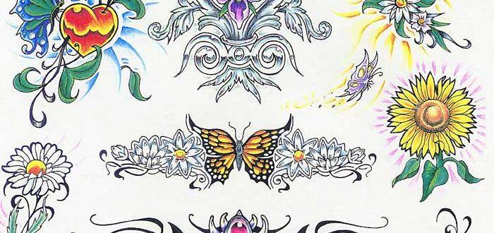 Tattoo flash. Sheet 266