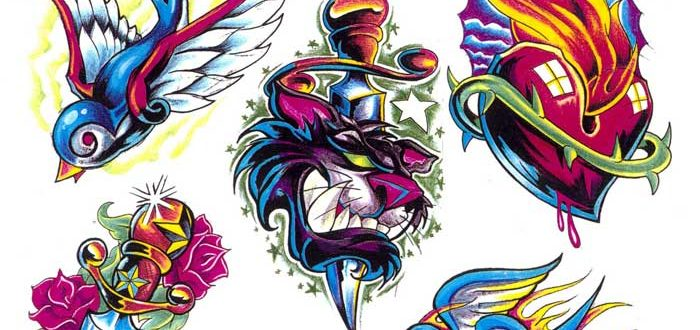 """Tattoo flash. """"The Must Have Collection"""". Sheet 268"""