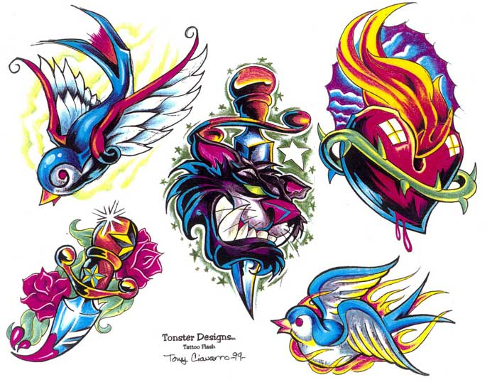 "Tattoo flash. ""The Must Have Collection"". Sheet 268"