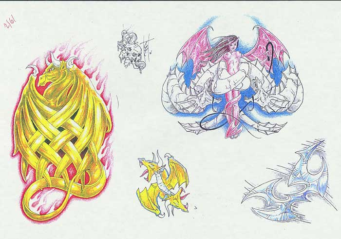 """Tattoo flash. """"The Must Have Collection"""". Sheet 271"""