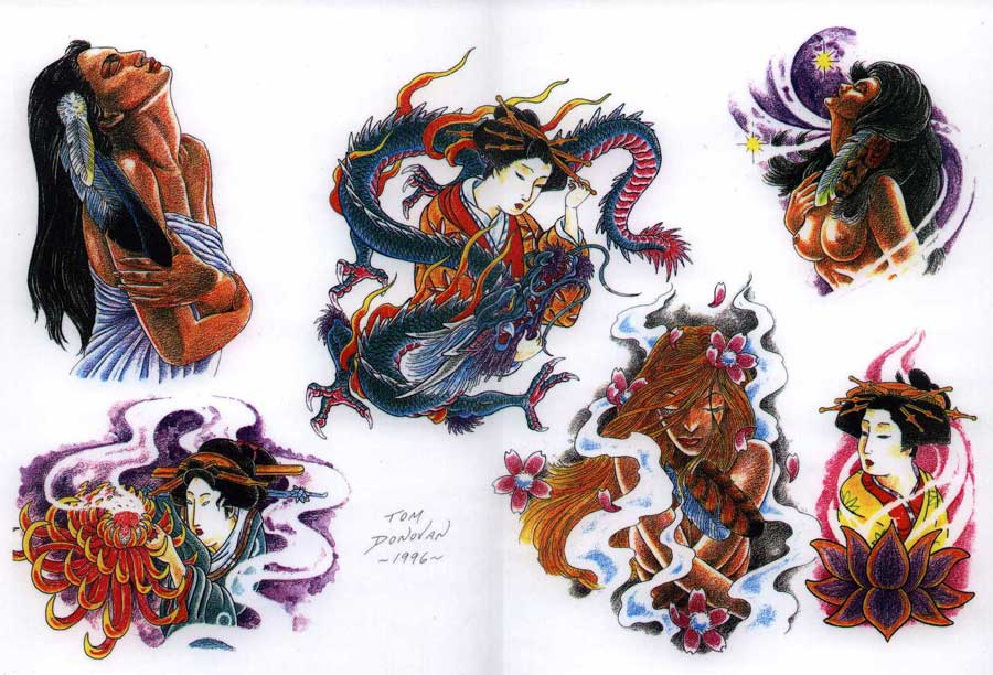 """Tattoo flash. """"The Must Have Collection"""". Sheet 278"""