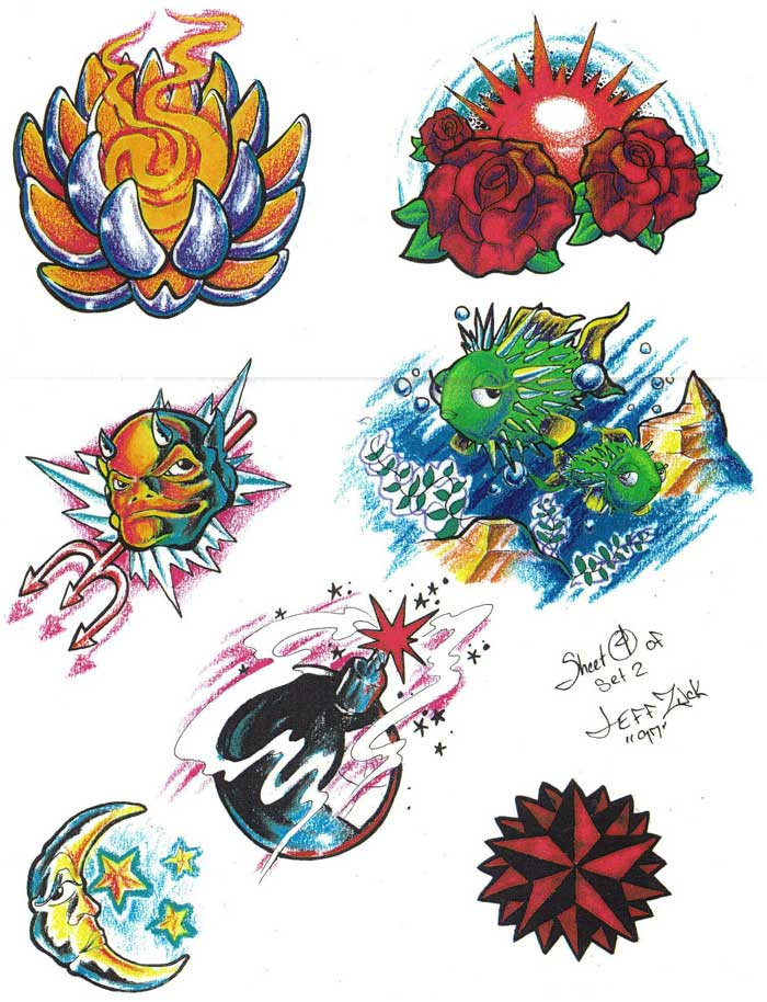 """Tattoo flash. """"The Must Have Collection"""". Sheet 280"""